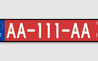 Plaque d'immatriculation rouge : c'est quoi ?